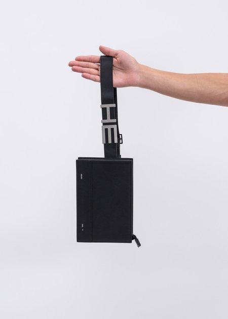 Heliot Emil Leather Waist Bag - Black