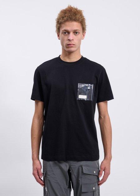 Heliot Emil T-Shirt with PVC Pocket - Black