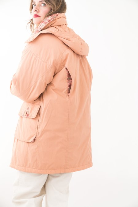 Backtalk PDX Vintage Peach Puffer Coat - Peach