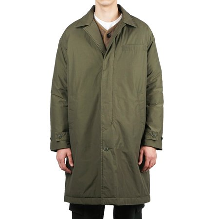 Snow Peak WAXED C/N DOWN COAT - OLIVE
