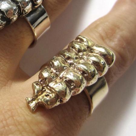 Heliotrope Rattle Ring - Brass