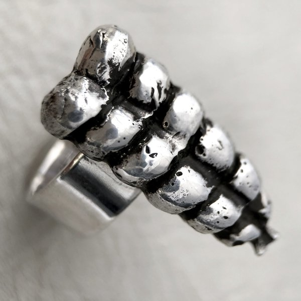 Heliotrope Rattle Ring - Silver