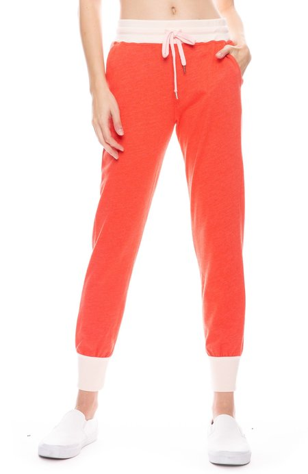 Sundry Colorblock Tapered Sweatpant - Ballet/Chilli