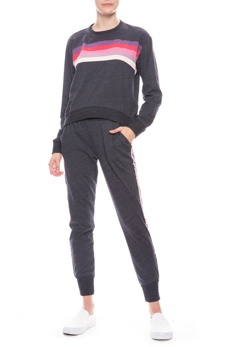 Sundry Tapered Sweatpant with Trim - Navy