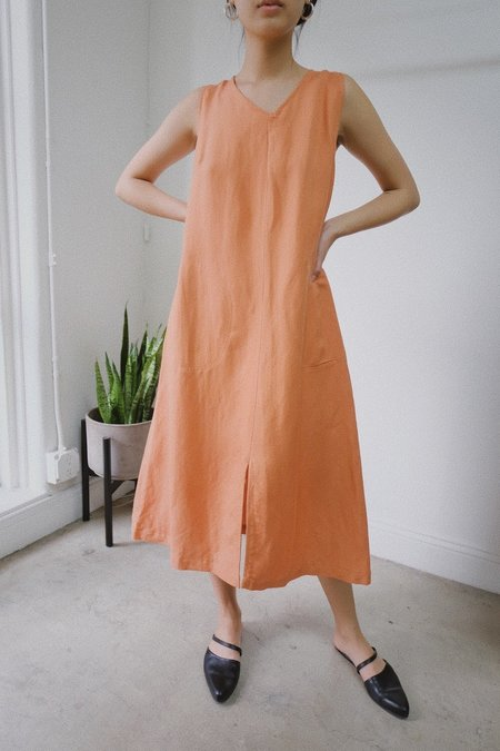SELVA / NEGRA Luz Linen Dress - Coral