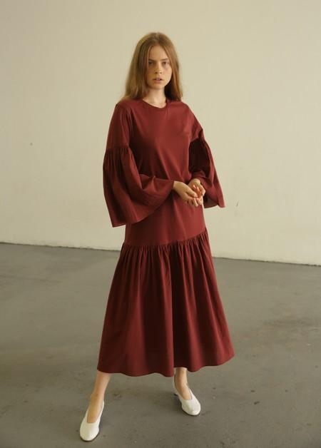 CORRELL CORRELL LOLO DRESS - MAROON