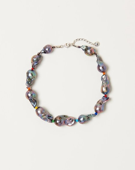 Fry Powers Midnight Baroque Pearl Collar Necklace