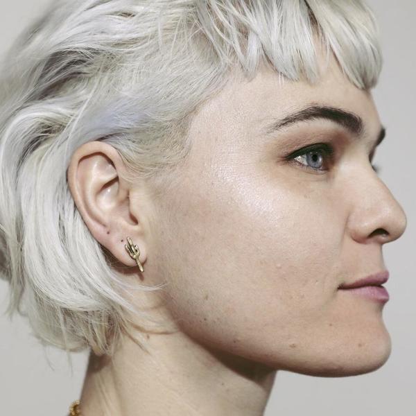 Heliotrope Saguaro Stud Earrings - Silver