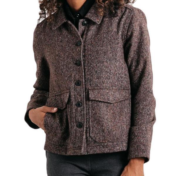 Bridge & Burn Noble Jacket - Navy/Copper Tweed