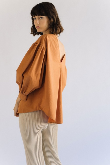 Mijeong Park Puff Sleeve Top - Orange