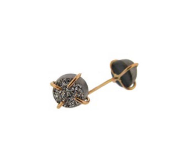 Melissa Joy Manning Silver Mist Druzy Earrings