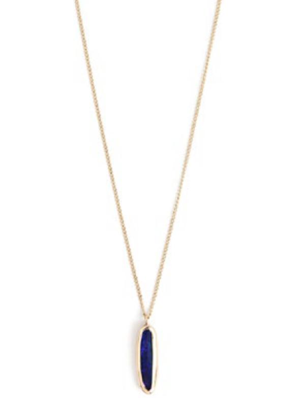 Melissa Joy Manning Teardrop Opal Necklace Very Unique - 14k gold
