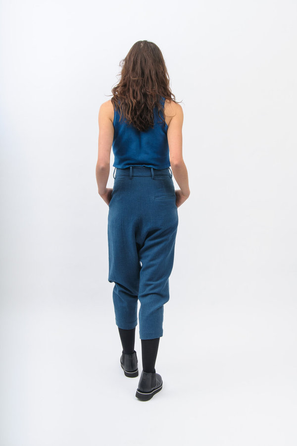11.11 / Eleven Eleven Tailored Wool Pants - Indigo