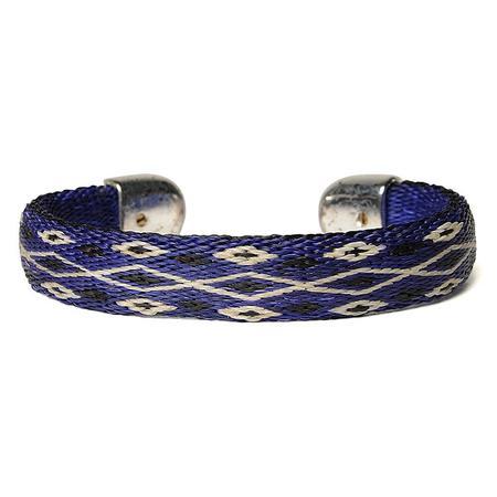 Chamula Bendable Horse Hair Bracelet - Blue/Black