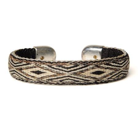 Chamula Bendable Horse Hair Bracelet - Natural/Black