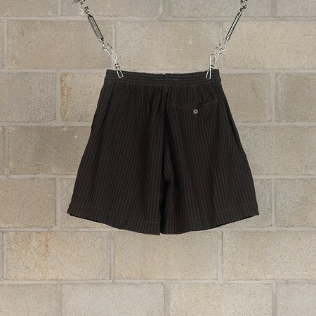 KAPTAIN SUNSHINE Athletic Wide Shorts - Black/Brown