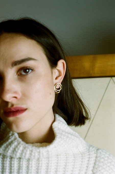 Completedworks Letter to an Archaeologist Earrings - Gold