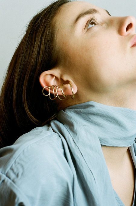 Completedworks Bend in the River Earcuff - Gold