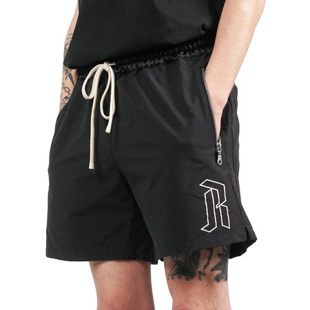 REBORN GYM SHORTS - BLACK