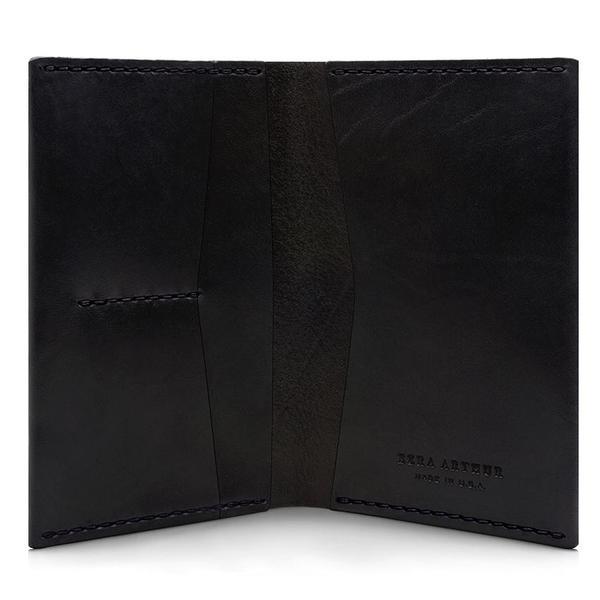 Ezra Arthur No. 5 Passport Wallet - Jet Black