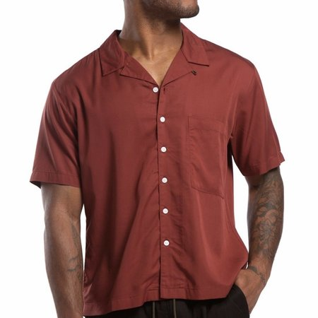 Candor Bascc Lounge Shirt - Maroon