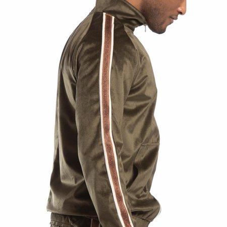 Candor Track Full Zip Jacket - Olive