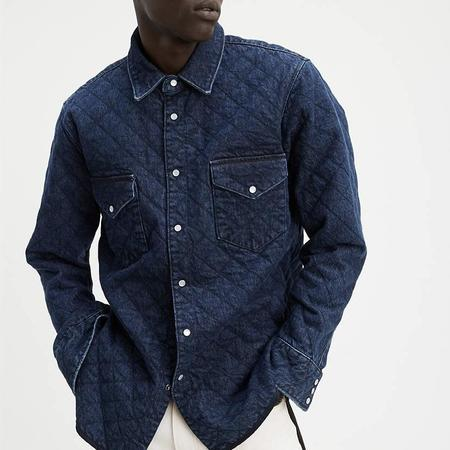 Levi's Made & Crafted Quilted Western Shirt - Dark Wash