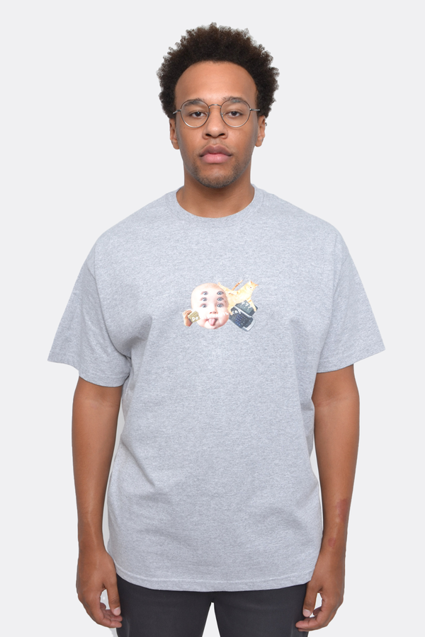 The Celect Elephants Cry T-Shirt - Heather Grey