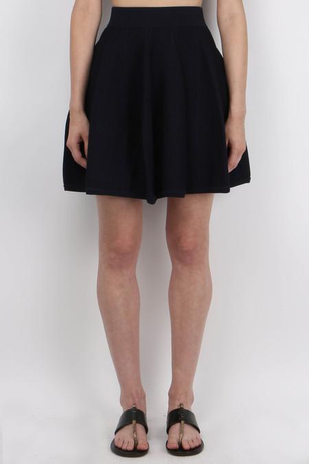 Jonathan Simkhai Flare Skirt - Navy