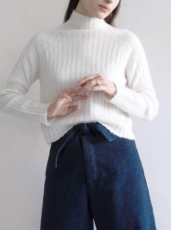 Micaela Greg Denim Knotted Sailor Pants