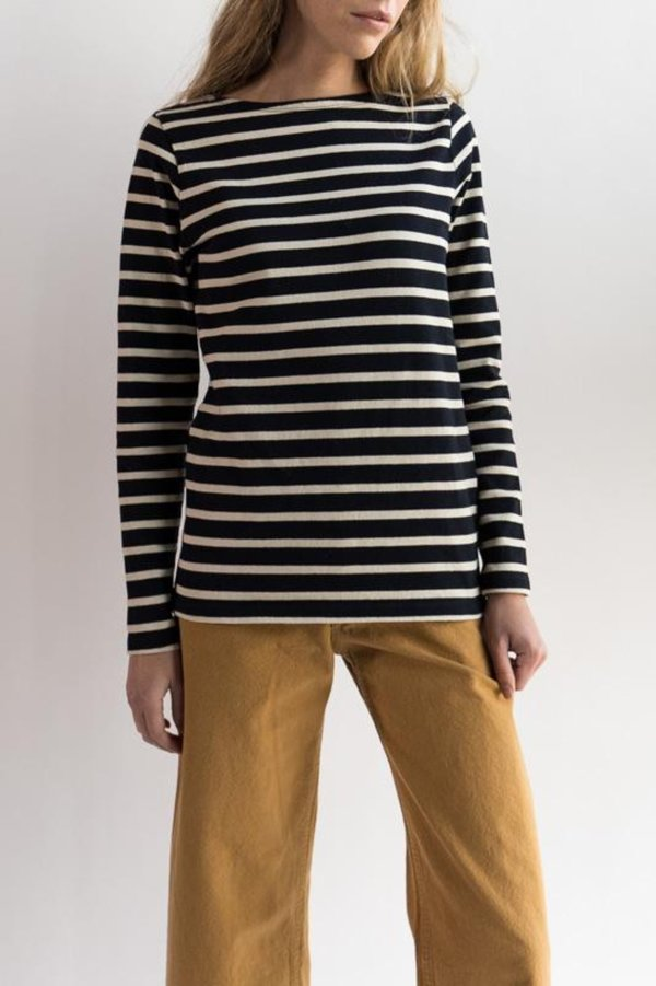 Norse Projects Inge Classic Stripe Sweatshirt - Dark Navy