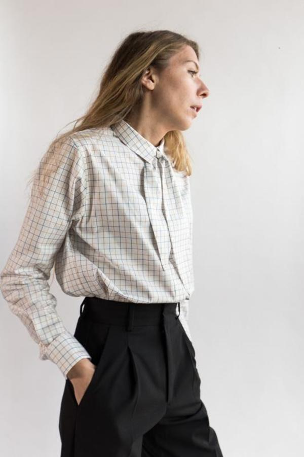Norse Projects Margot Blouse - Check