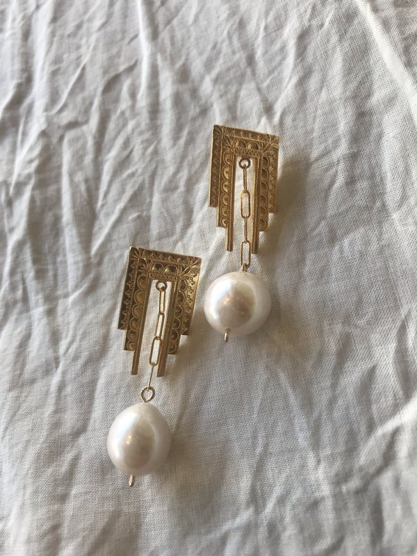 BEFORE MARCH Deco earrings - ivory