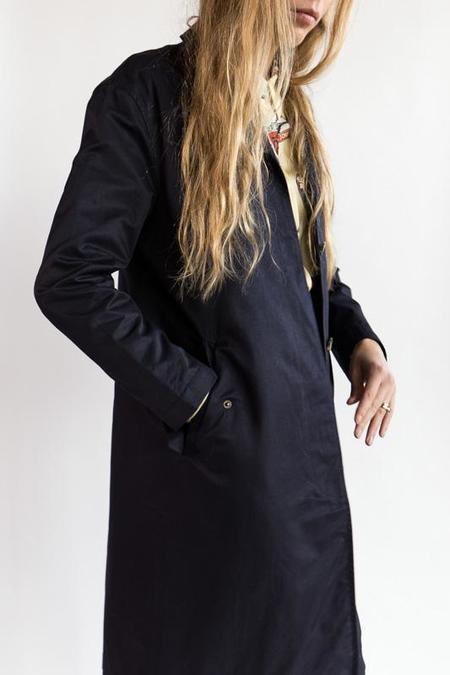 Le Mont St. Michel Trench Coat - navy