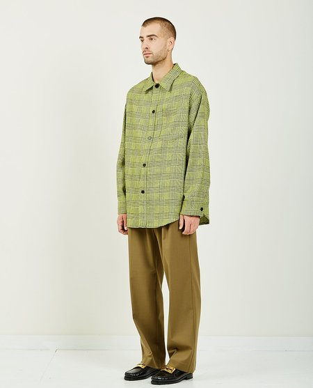 CMMN SWDN SERGEY OVERSHIRT - YELLOW GREEN