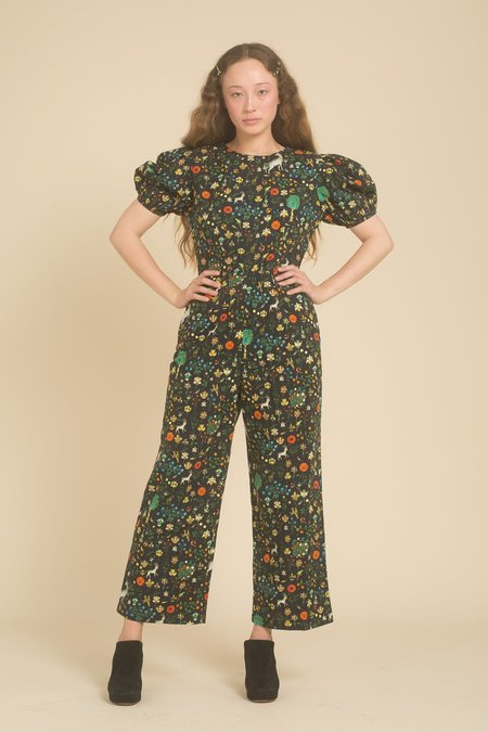 Samantha Pleet Garden Jumpsuit - Black Illuminated