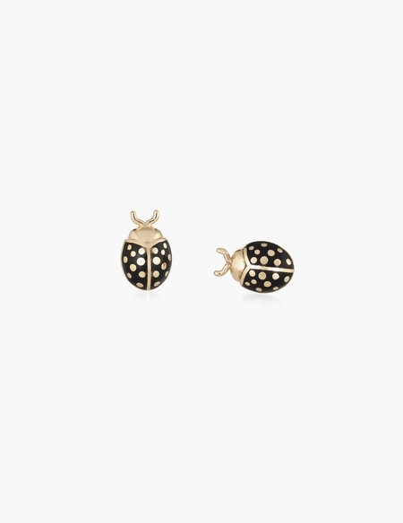 Kathryn Bentley Black enamel Ladybug Studs