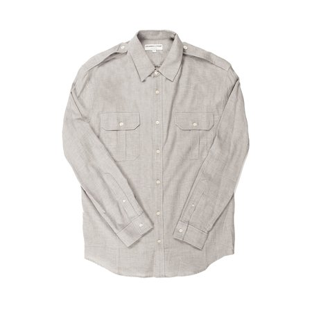 Krammer & Stoudt Carter Military Shirt - Light Grey
