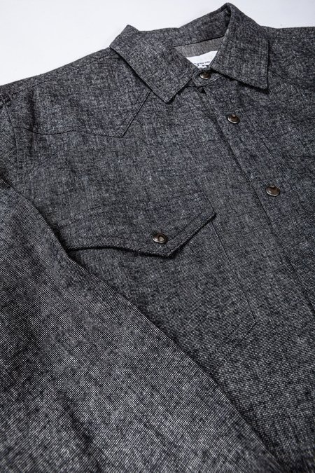 Krammer & Stoudt Wayne Western Shirt - Black Chambray