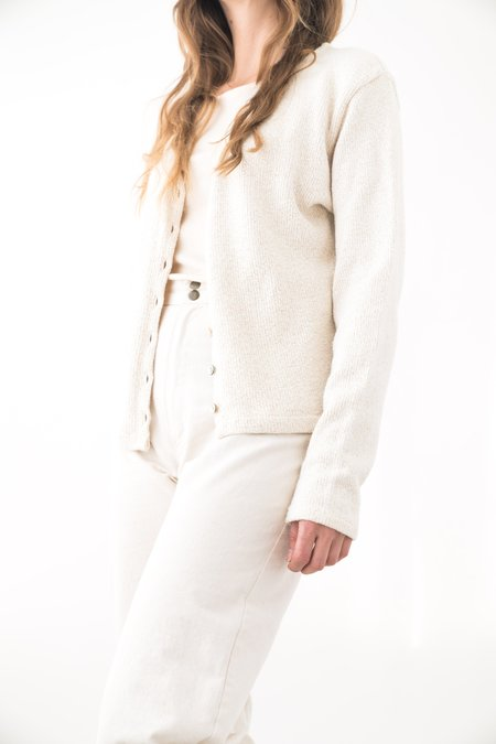 Backtalk PDX Vintage Soft Cotton Cardigan - Ecru
