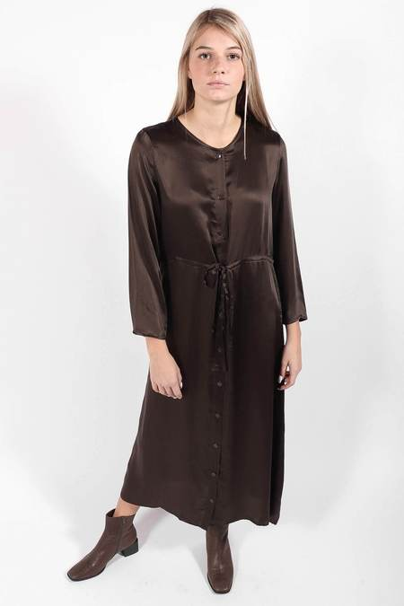 Ali Golden Long Sleeve Button Down Maxi Dress