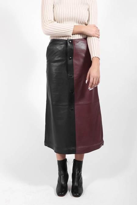 Stand Studio Nata Skirt - Black/Plum