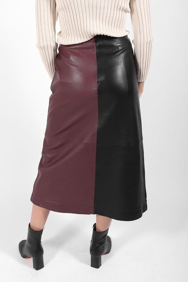 Stand Studio Nata Skirt - Black/Plum