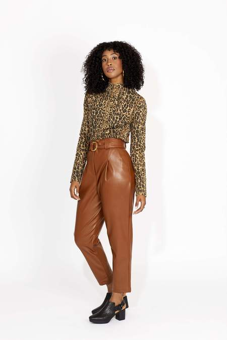 HIDE Jasmine Peg Leg Trouser - Tan