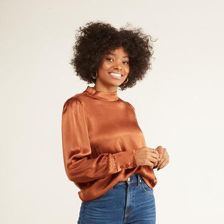 Just Female Shea Blouse - Warm Brown