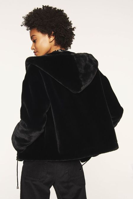 Bash Paris Fojo Coat - Black