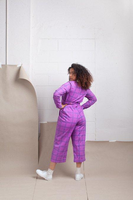 maggie jayne Day Suit - Purple Grid