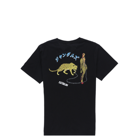 Jungles Leopard Woman T-Shirt - Black