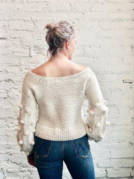 Handspun Hope Adriana Cotton Sweater - Natural