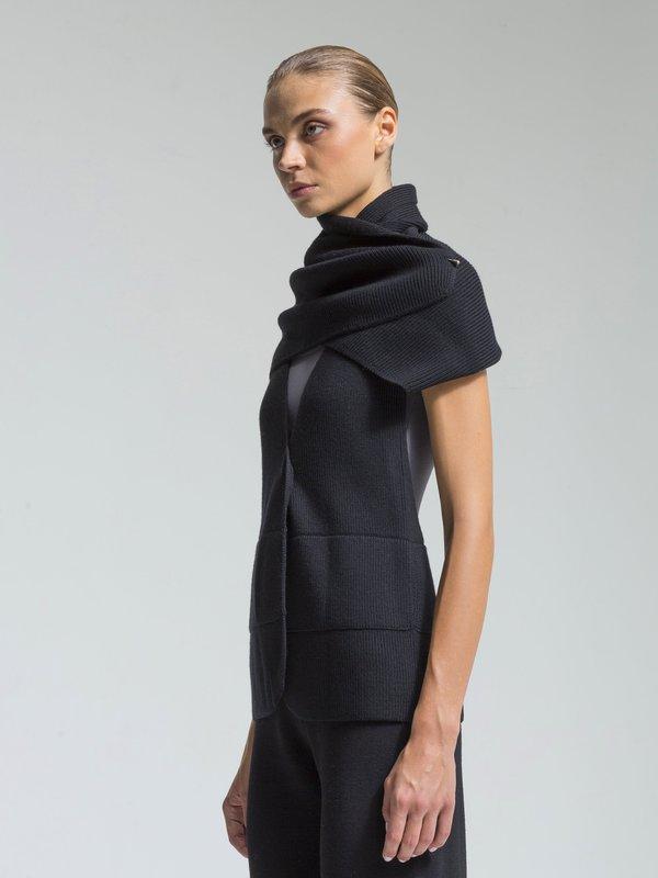 NFP Convertible Shawl / Vest - Black